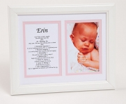 8x10 Baby Photo First Name Meaning Framed (Girl)