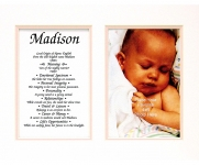 8x10 Baby Photo First Name Meaning (Girl)
