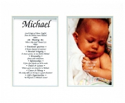 8x10 Baby Photo First Name Meaning (Boy)