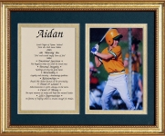 8x10 First Name Meaning (Double Matte/Gold Frame)