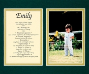 8x10 First Name Meaning (Double Matte)