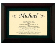 5x7 First Name Meaning (Walnut Frame)