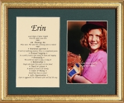 8x10 First Name Meaning Photo (Gold Frame)
