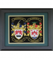 Framed Double Embroidery Coat-of-Arms