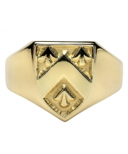 Gents Heavy Shield Ring