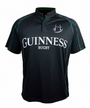 Guinness Black and Green Short Sleeve Rugby Jersey