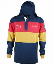Guinness Navy Paneled Hooded Rugby Jersey