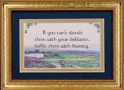 If You Can't Dazzle Them... - 5x7 Blessing - Gold Landscape
