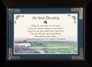 Irish Blessing - May The Road Rise - 5x7 Blessing - Walnut Landscape Frame