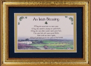 Irish Blessing - May The Road Rise - 5x7 Blessing - Gold Landscape