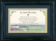 Irish Blessing - May The Road Rise - 5x7 Blessing - Green Landscape