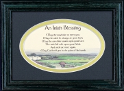Irish Blessing - May The Road Rise - 5x7 Blessing - Oval Green Frame