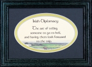 Irish Diplomacy - 5x7 Blessing - Oval Green Frame