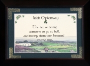 Irish Diplomacy - 5x7 Blessing - Walnut Landscape Frame