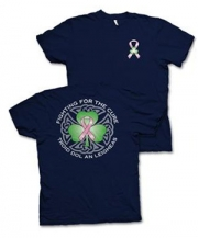 Irish For The Cure T-Shirt (Navy and Pink)