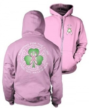 Irish For The Cure Zip Hoodie