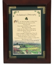 An Irishman's Philosophy - 5x7 Blessing