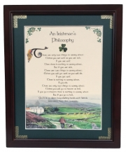 An Irishman's Philosophy - 8x10 Blessing