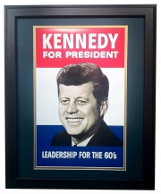 Kennedy for President - Matted and Framed Print