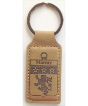 Coat of Arms Leatherette Rectangle Keychain