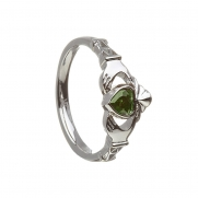 May - Emerald Birthstone Claddagh Ring