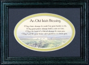 May There Always Be Work For Your Hands To Do - 5x7 Blessing - Oval Green Frame