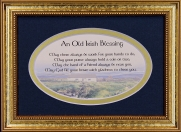 May There Always Be Work For Your Hands To Do - 5x7 Blessing - Oval Gold Frame