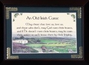 Old Irish Curse - 5x7 Blessing - Walnut Landscape Frame