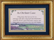 Old Irish Curse - 5x7 Blessing - Gold Landscape