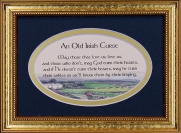 Old Irish Curse - 5x7 Blessing - Oval Gold Frame