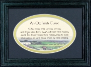 Old Irish Curse - 5x7 Blessing - Oval Green Frame