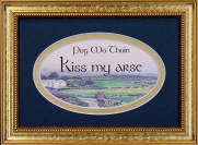 Pog Mo Thoin - 5x7 Blessing - Oval Gold Frame