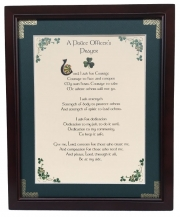 A Police Officer's Prayer - 8x10 Blessing