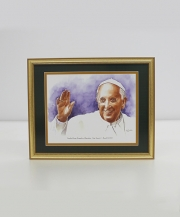 Pope Francis I Framed Watercolor Print 11x14
