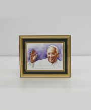 Pope Francis I Framed Watercolor Print 8x10