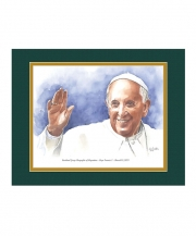 Pope Francis I Watercolor Print 11x14