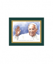 Pope Francis I Watercolor Print 8x10