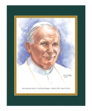 Pope Saint John Paul II Watercolor Print 11x14