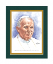 Pope Saint John Paul II Watercolor Print 8x10