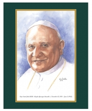Pope Saint John XXIII  Watercolor Print 16x20