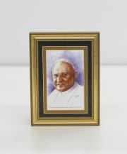 Pope Saint John XXIII  Framed Watercolor Print 5x7