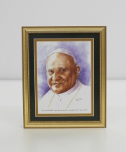 Pope Saint John XXIII   Framed Watercolor Print 8x10