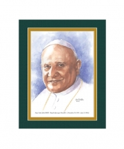 Pope Saint John XXIII  Watercolor Print 8x10