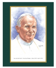 Pope Saint John Paul II Watercolor Print 16x20