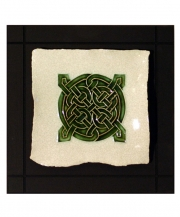 Quarternary Celtic Knot Parchment Wall Tile