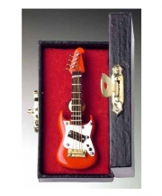 Red Electric Guitar Pin With Case