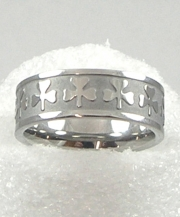 Shamrock Embossed Ring