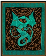 green-celtic-english-dragon-tapestry