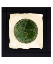 St Brigid's Cross Parchment Wall Tile
