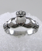 Stainless Steel Ladies Claddagh Ring